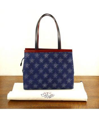 Dilians Handtasche Blaudruck  Angelika D100601