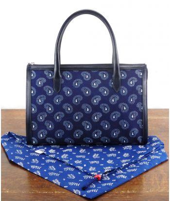 Dilians Blaudruck Handtasche Avril D260601