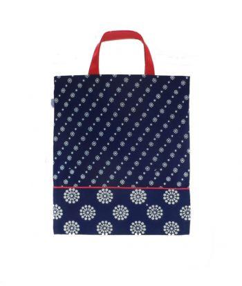 Dilians Einkaufstasche Blaudruck Stoffmuster