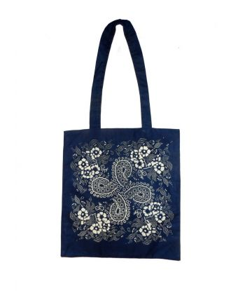 Dilians Blaudruck gefütterte Schulter Einkaufstasche B4-D0501