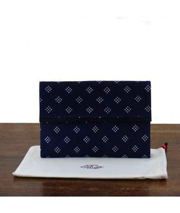 Dilians Blaudruck Clutch Handtasche
