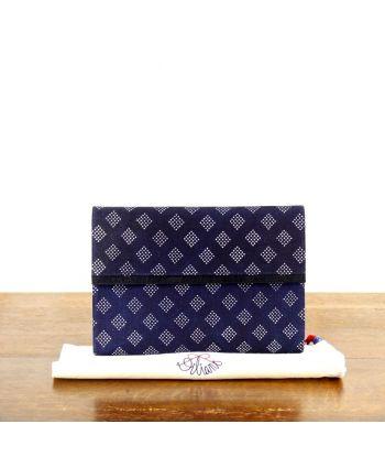 Dilians Blaudruck Clutch Tasche Maria D2706