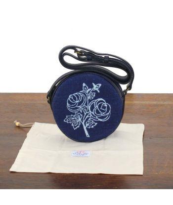 Dilians Blaudruck kleine Umhängetasche